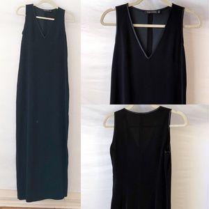 Tahari Deep-V-Neck Maxi Dress